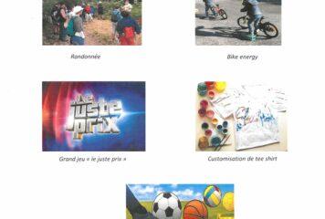 PROGRAMME DES VACANCES DE JUILLE 2021 – Association des 8 villages